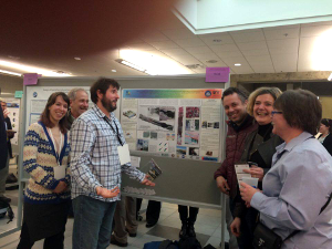 Colleagues at the the HyLab poster during the AOS March 2016 meeting